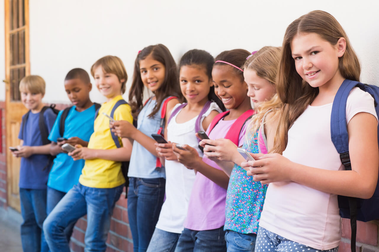Les enfants et leur téléphone portable